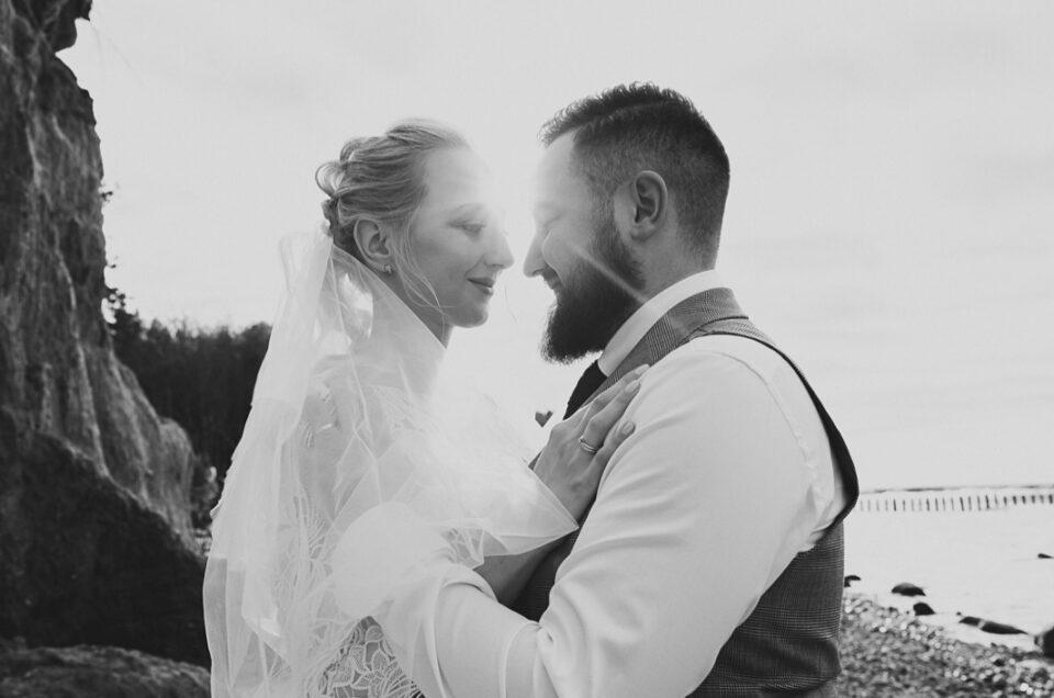 Plener ślubny nad morzem │plaża w Wiciu │ Ania & Tomek